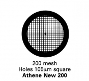 G206G  Athene New 200, Thick bar/Thin bar, 200 mesh, pozlacené, 100 ks/balení