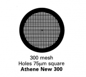 G207G  Athene New 300, Thick bar/Thin bar, 300 mesh, pozlacené, 100 ks/balení