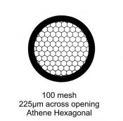 G214P Athene Hexagonal, poplatinované, 100 ks/bal
