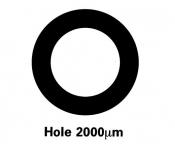 G225N7 Agar hole grids, Ni, 100 ks/bal