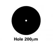 G225G2 Athene hole grids, pozlacené, 100 ks/bal