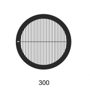 G2022N Parallel bars with single bar grids, 300 lines, Ni, 100 ks/bal