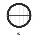 G2017A Parallel bars with single bar grids, 50 lines, Au, 50 ks/bal