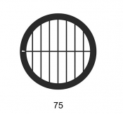 G2018A Parallel bars with single bar grids, 75 lines, Au, 50 ks/bal