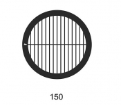 G2020A Parallel bars with single bar grids, 150 lines, Au, 50 ks/bal