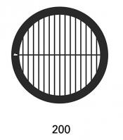 G2021A Parallel bars with single bar grids, 200 lines, Au, 50 ks/bal