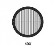 G2023A Parallel bars with single bar grids, 400 lines, Au, 50 ks/bal
