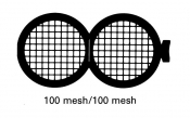 G231 Folding grid 100x100 mesh, Cu, 100 ks/bal