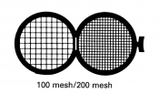 G234 Folding grid 100x200 mesh, Cu, 100 ks/bal