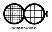 G236 Folding grid 100x50 mesh, Cu, 100 ks/bal