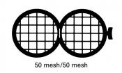 G230PD Folding grid 50x50 mesh, Cu, jedna strana kryta paládiem, 100 ks/bal