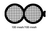 G231PD Folding grid 100x100 mesh, Cu, jedna strana kryta paládiem, 100 ks/bal