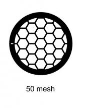 G2405PD Agar Hexagonal 50 mesh grids, Cu, jedna strana kryta paládiem, 100 ks/bal
