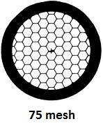 G2475PD Agar Hexagonal 75 mesh grids, Cu, jedna strana kryta paládiem, 100 ks/bal