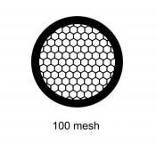 G2410PD Agar Hexagonal 100 mesh grids, Cu, jedna strana kryta paládiem, 100 ks/bal