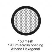 G2415PD Agar Hexagonal 150 mesh grids, Cu, jedna strana kryta paládiem, 100 ks/bal
