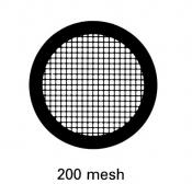 G2450PD Agar Hexagonal 200 mesh grids, Cu, jedna strana kryta paládiem, 100 ks/bal