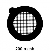 G2700C Square thin bar 200 mesh grids, Cu, 100 ks/bal