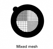 G2770C Mixed mesh thin bar  grids, Cu, 100 ks/bal