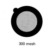 G2720N Square thin bar 300 mesh grids, Ni, 100 ks/bal