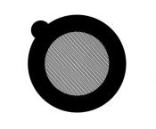 G2760N Hexagonal thin bar 700 mesh grids, Ni, 100 ks/bal
