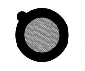 G2760A Hexagonal 600 mesh thin bar  grids, Au, 50 ks/bal