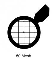 G2905C Tabbed square 50 mesh grids, Cu, 100 ks/bal