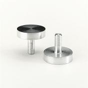 G301A Pin stubs, Al, 12,5mm dia, pin l=8mm, dia=3,2mm, 100 ks/bal