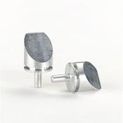 G301E Pin stubs, Al, zkosení 45° na celém profilu, 12,5mm dia, 10 ks/bal