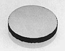 16526 High purity graphite discs, one side polished, 25 mm dia, t=3mm, 1 ks/bal