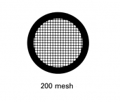 G2464AL Square 200 mesh grids, Al, 25 ks/bal