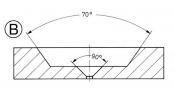 A0212P Platinum aperture ᴓ 2mm x t 0,6mm, hole ᴓ 250 um