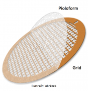 SP162-F22 Pioloform on finder grid type F2/200, Cu, 25 ks/bal/