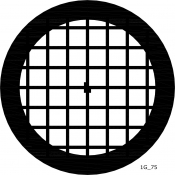 08L04902 Square 75 mesh grids, Au, 25 ks/bal