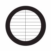 07D02912 Parallel bar grids with divider, rozteč 254 um, Au, 25 ks/bal