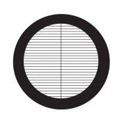 07D02914 Parallel bar grids with divider, rozteč 84 um, Au, 25 ks/bal
