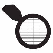 07D31915 Rectangular (Slotted) mesh grids 50/200 with handle, Ni, 100 ks/bal