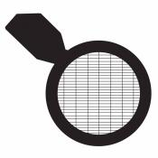 07D31916 Rectangular (Slotted) mesh grids 75/300 with handle, Ni, 100 ks/bal