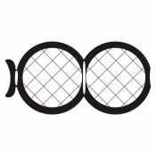 07D02927 Square 50/50 mesh folding grids , Au, 25 ks/bal