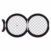 07D02928 Square 100/100 mesh folding grids , Au, 25 ks/bal