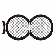 07D00928 Square 100/100 mesh folding grids , Cu, 100 ks/bal
