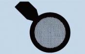07D30951 Hexagonal 270 mesh grids with handle, Cu, 100 ks/bal