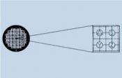 03D00750 HF15 Reference Pattern Grid, Cu/Rh, 100 ks/bal