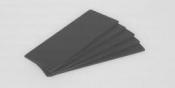 LA1276 Kovová deska pro umístění vzorků, černě eloxovaná, 5 ks/bal.