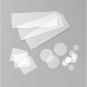 LS0704 Corning 7980 quartz slide 25,4 x 25,4mm,  tl=2,0 - 2,5 mm, 1 ks