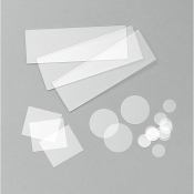 LS0701 Corning 7980 quartz slide ᴓ 25,4 mm,  tl=1,0 - 1,5 mm, 1 ks