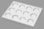 L4102A Economy Polystyrene Spot Dish, 12 prohlubní, bílá, 6 ks/bal