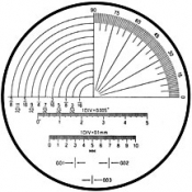 O6082 Reticle Nr.12 for measuring magnifier x 7
