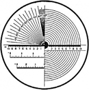 O6076 Reticle Nr.6 for measuring magnifier x 7