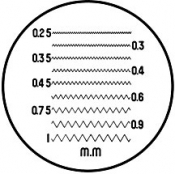 O6080 Reticle Nr.10 for measuring magnifier x 7